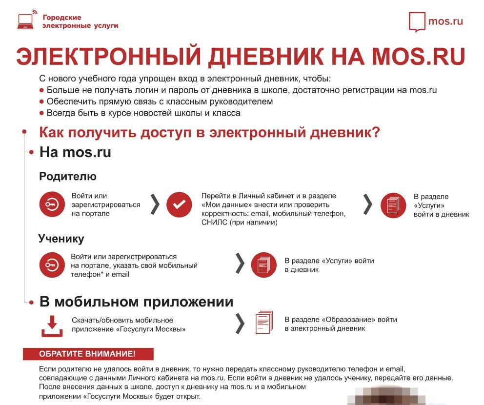 ЭЖД на Mos.ru инструкция как войти в личный кабинет